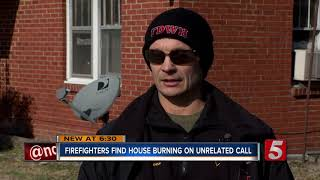 Firefighters Find Burning Home While On Unrelated Call