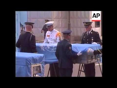 NORTH KOREA: REMAINS OF U.S SOLDIERS RETURNED