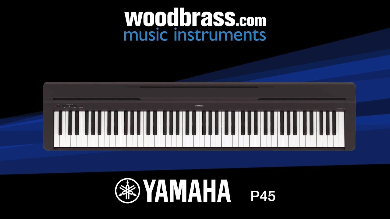 test woodbrass yamaha p45 youtube. Black Bedroom Furniture Sets. Home Design Ideas