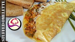 Stuffed Omelette Recipe  Breakfast Recipe   Tasty Indian Omelette Recipe   Egg recipes