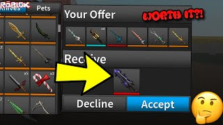 ATTEMPTING TO TRADE FOR COMPETITOR BLADE II *WORTH IT?! * (ROBLOX ASSASSIN REALLY TOUGH TRADES TODAY)