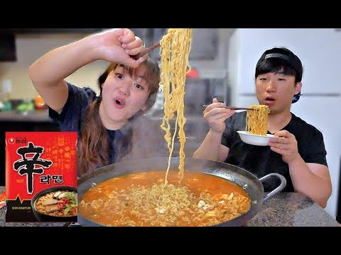 Shin Ramen w/ Rice Mukbang | Eating Show