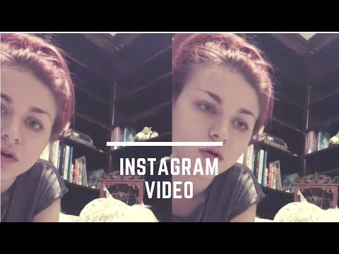 Frances Bean Cobain singing her first song | Instagram Video
