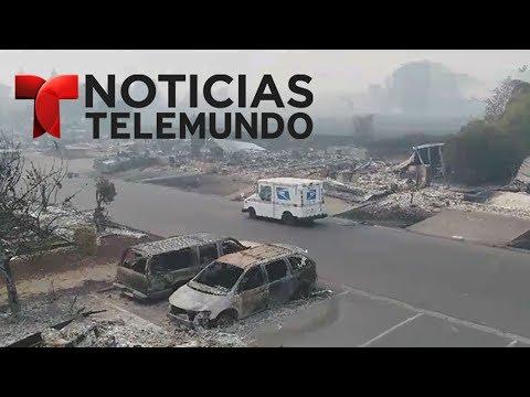 Imágenes tomadas por un dron muestran devastación por incendios en California | Noticias | Telemundo