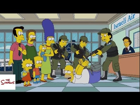 The Simpsons Funniest Moments #226 HD Travel to Israel