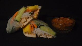 Spring Rolls And Peanut Sauce - Episode 35 - Reveena's Kitchen