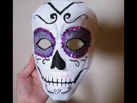 Day of the Dead Paper Mache Mask- Dia de Los Muertos