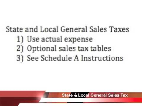 1040 Schedule A Deductible Taxes Paid Youtube