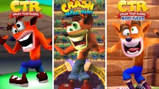 Evolution of All Characters Victory Dances in Crash Bandicoot Racing Games (1999-2019)