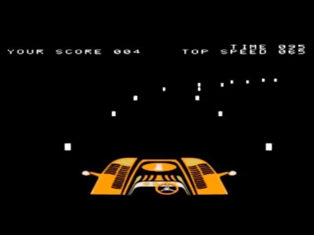Night Driver - Arcade - Original 1st Person Driving Game (Atari 1976)
