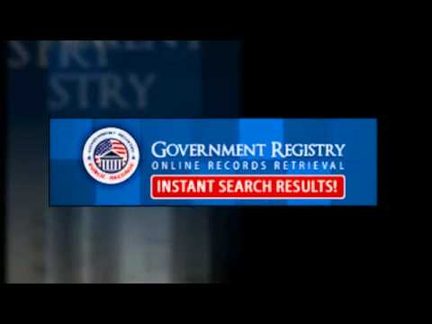 Government Records Registry Search