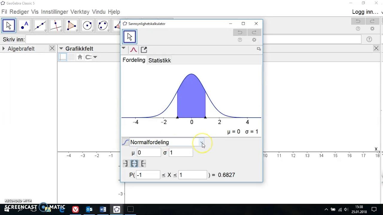 Sannsynlighetskalkulator for hypergeometrisk sannsynlighet i GeoGebra 5