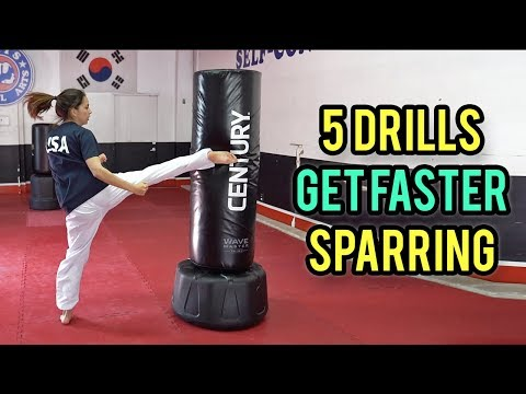 5 Drills To Improve Your Sparring (Taekwondo Speed, Footwork, Agility)