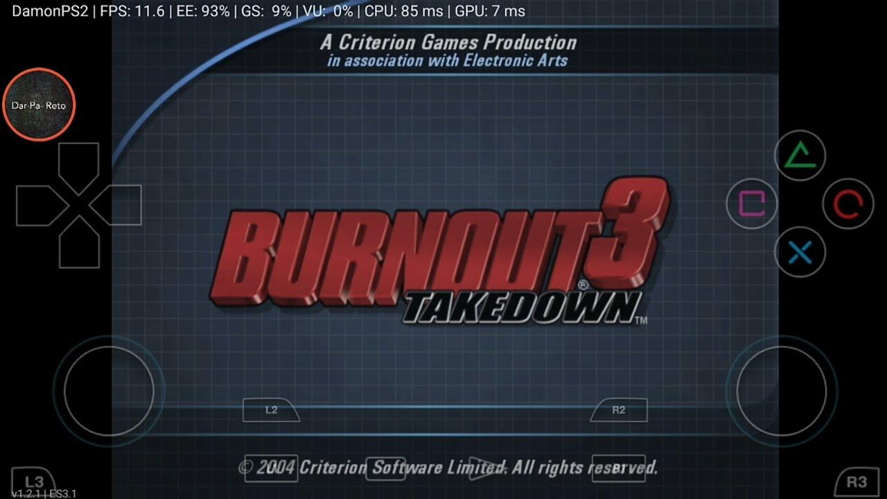 Burnout 3 - Takedown Damon Ps2 Pro Android