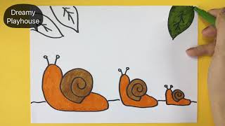 How to draw snails