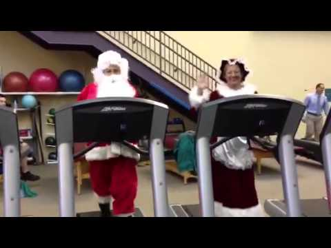 "Santa Claus says ""stay healthy!"""