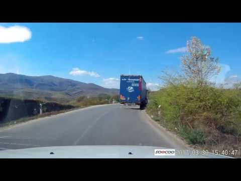 Relaxed driving from Skopje to Kumanovo in Macedonia