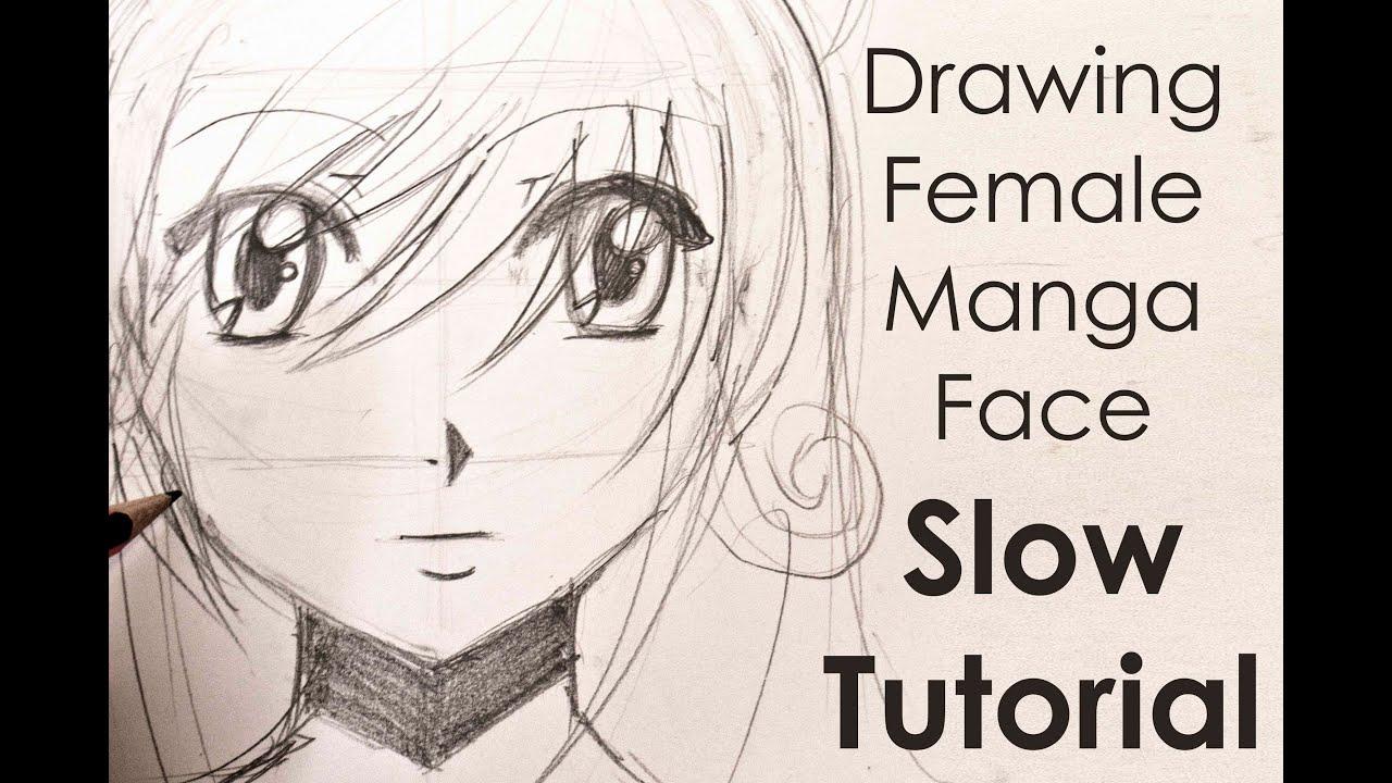 drawing easy manga girl face slow