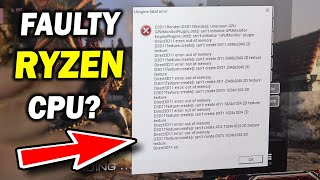 My Ryzen 3 3100 Became FAULTY... First Time PC Builders NEED to see this.