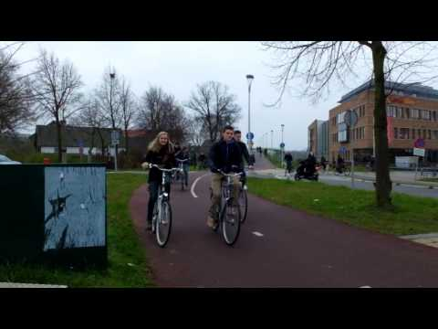 Cycle travel on Bromptons   Nijmegen in the Netherlands