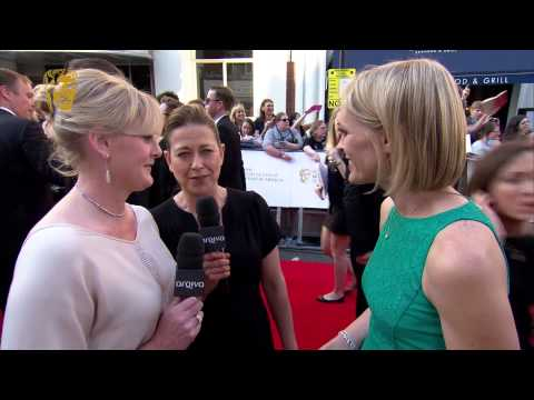 Sarah Lancashire & Nicola Walker  BAFTA Television Awards Red Carpet in 2014