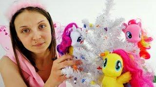 Новогодняя гирлянда из пуговиц: Пинки Пай и друзья