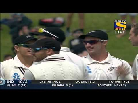 India 2nd Innings | Fall of Wickets | India vs New Zealand | Day 5 | 2nd Test | 2014
