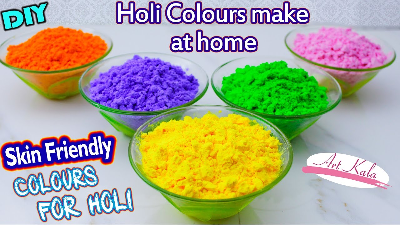 Diy Holi Powder ग ल ल Making Tutorial For Holi 2019 100 Natural Colour Artkala 124