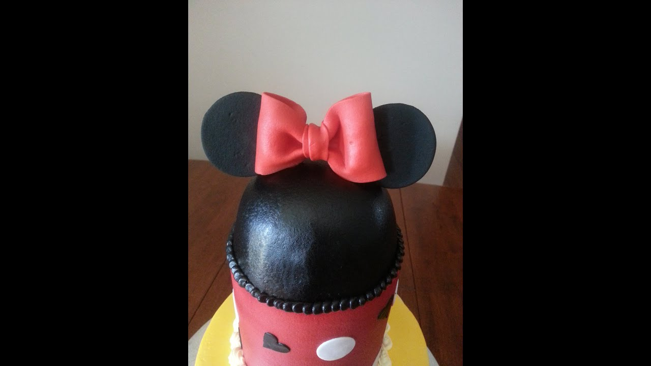 Minnie Mouse 1st Birthday Cake YouTube
