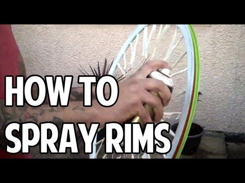 How To Spray Your Bicycle Rims Youtube