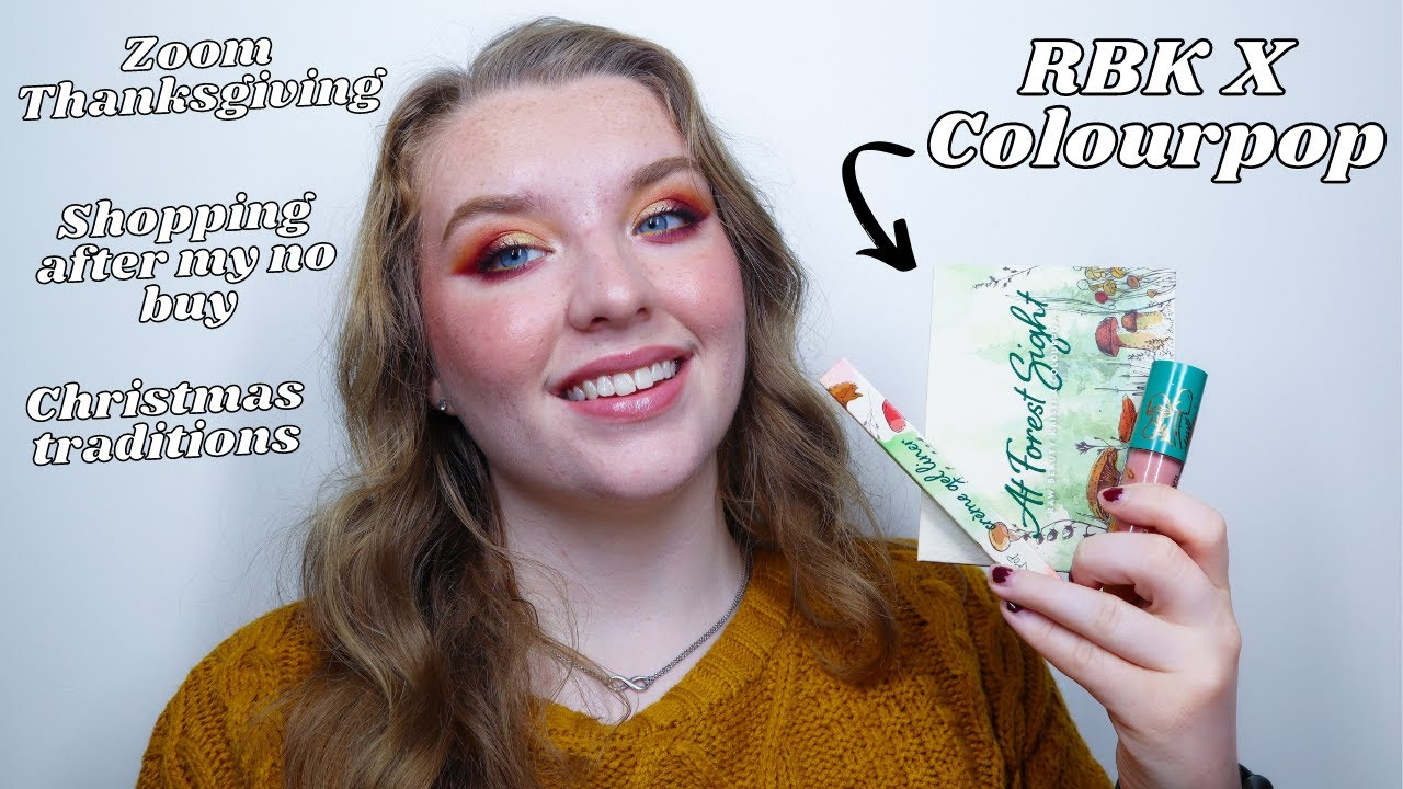 GRWM for Zoom Thanksgiving | Raw Beauty Kristi x Colourpop, Christmas Traditions, and more!