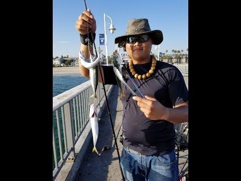 Fishing Belmont Pier In Long Beach CA