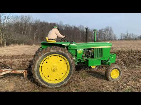 Working The John Deere 2510 With The Chisel Plow