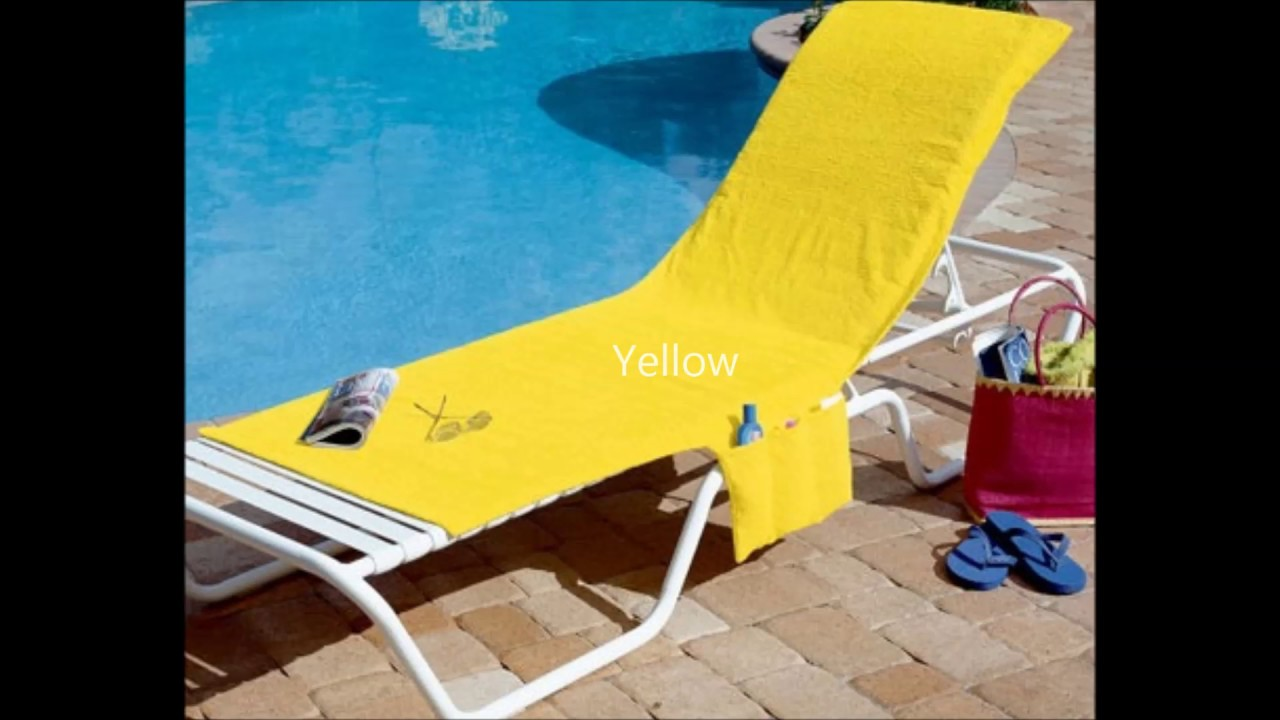 Lounge Chair Towels Poolside Accessories Beach Towels Lounge Chair Cover Terry Cloth Large Pocket