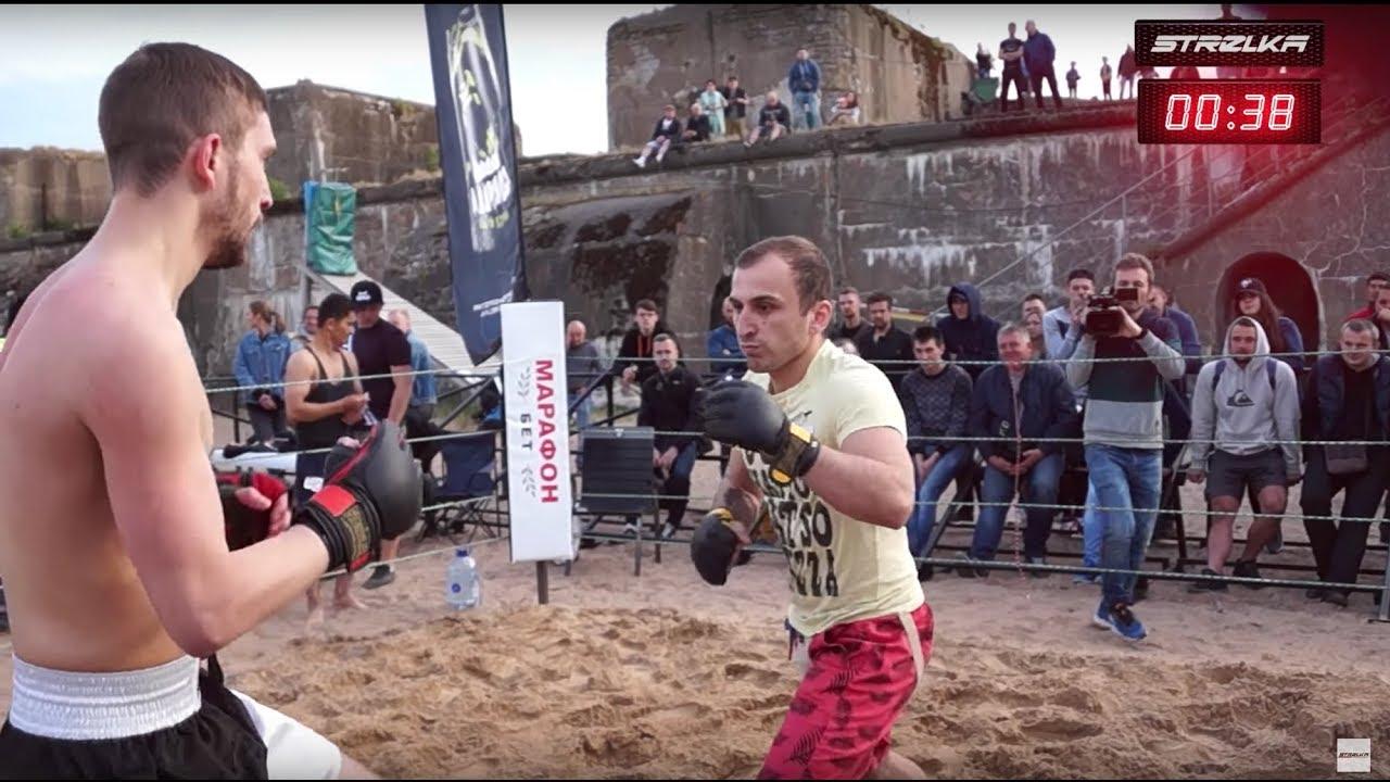 Deutscher Wrestler gegen den russischen Boxer !! Bekämpfe MMA !!!