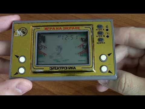 """Электроника """"Ну погоди!"""" и """"Космический мост"""" Space Bridge Игра на экране."""