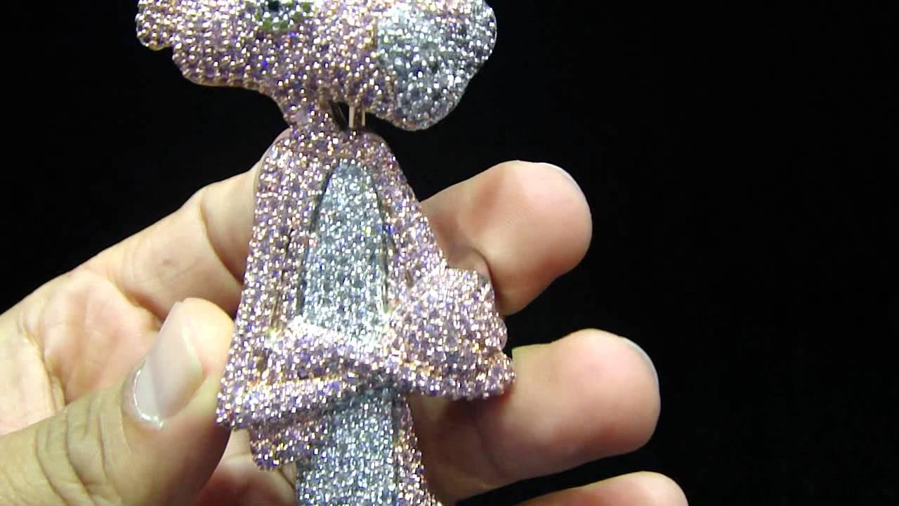 e7f2386f0ed2f Mr Chris Da Jeweler Custom Lab Diamond Pink Panther Waka Flocka Pendant  Video No : BP4392 by MrChrisdajeweler