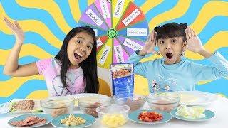 MYSTERY WHEEL OF PIZZA CHALLENGE FOR KIDS ♥ MASAK PIZZA SENDIRI