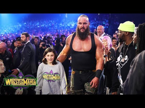 Young WWE fan Nicholas teams with Braun Strowman against The Bar: WrestleMania 34 (WWE Network)