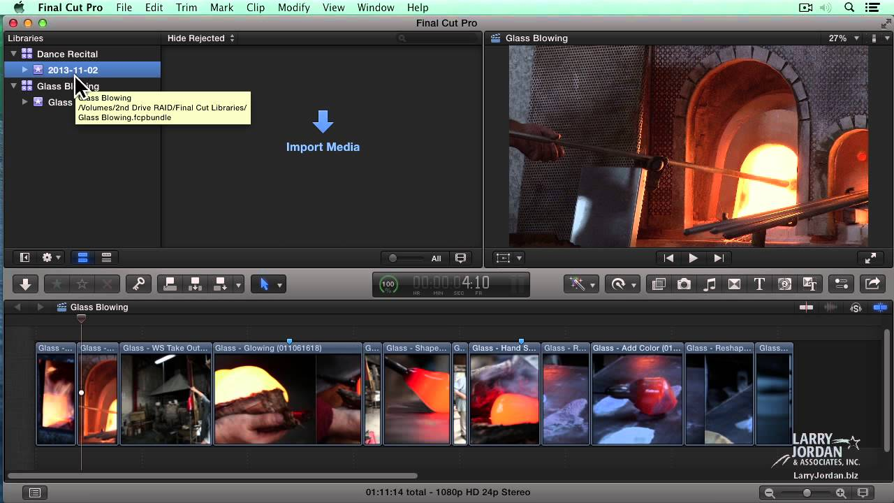 How to share and/or copy a Final Cut Pro X Project to an
