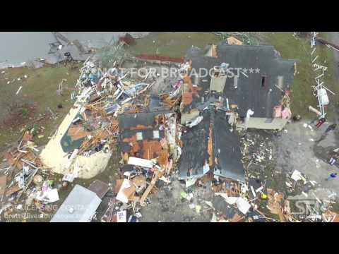 1-23-17 Worth, Georgia Tornado Path - Aerials