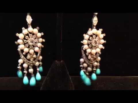 Lorraine schwartz diamond pearl and persian turquoise chandelier lorraine schwartz diamond pearl and persian turquoise chandelier earrings youtube aloadofball Image collections