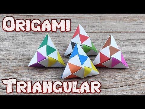 Origami 3D Cube of Pyramids | How To Make A Pyramid Triangular Cube Tutorials | DIY Paper Craft Idea