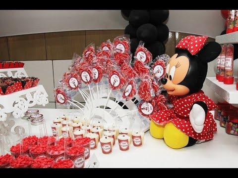 Ideias Decoração e Lembrancinhas Festa Aniversário Minie Minnie Vermelha
