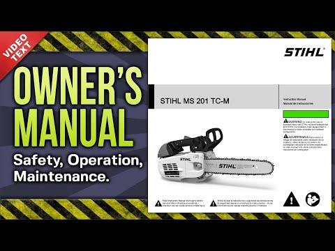 Owner's Manual: STIHL MS 201 TC-M Chain Saw