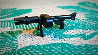 Сборка оружия Второй мировой войны 1939-1945 (MG - 42)Lego самоделка № 14