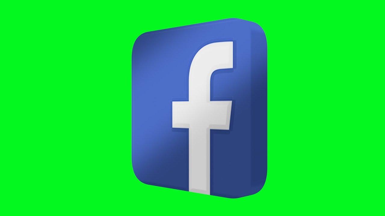 facebook logo green screen animated 3d youtube