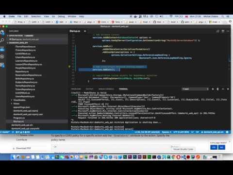 ASP NET Core -  Web API -  Enabling and Configuring CORS = Cross Origin Resource Sharing