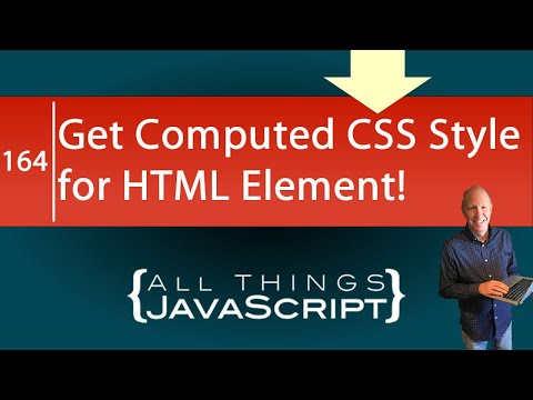 Grabbing The CSS Style From An HTML Element