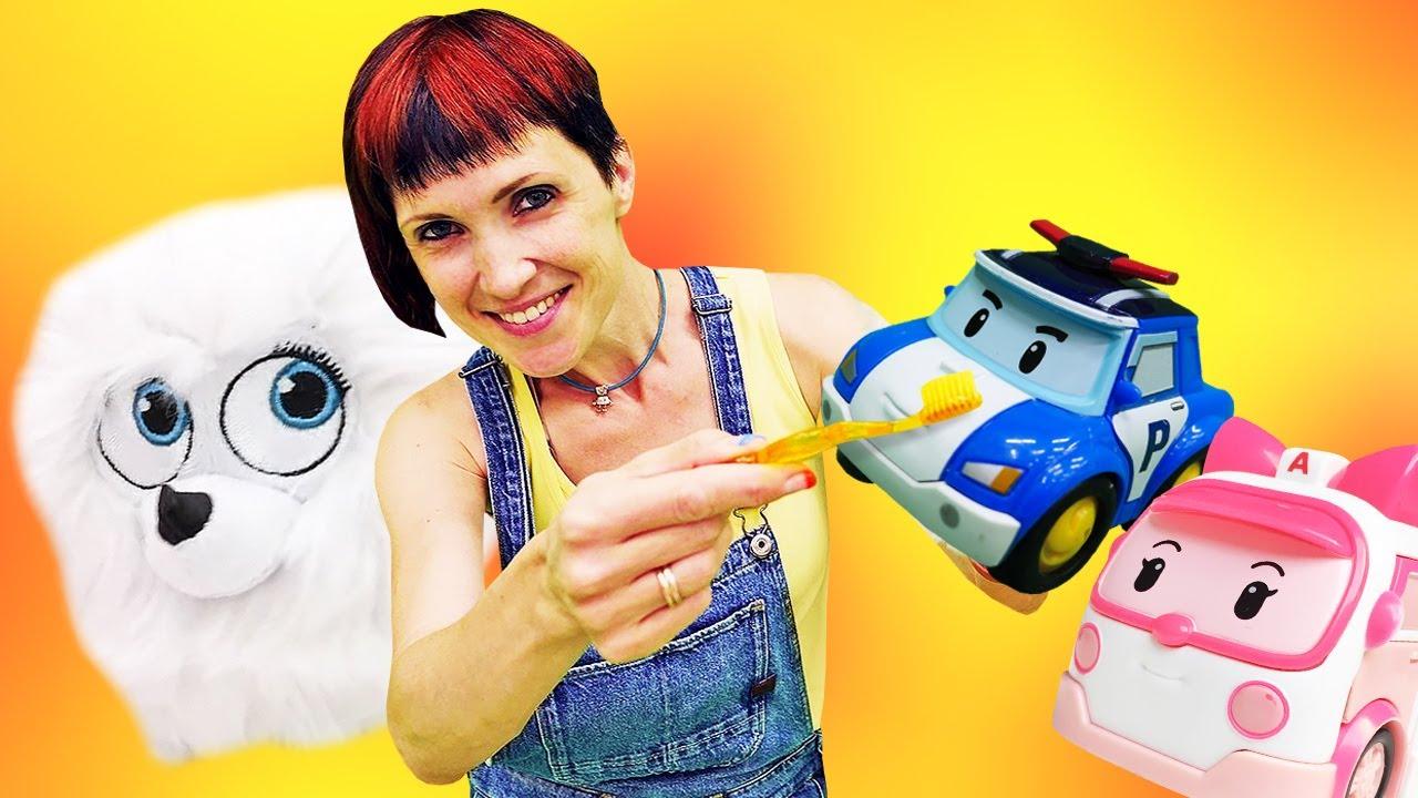Мультики про машинки - Весёлая Школа Капуки Кануки. Робокары в песочнице и ужин для Гиджет